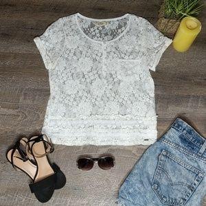 Hollister lace top.  Sz M